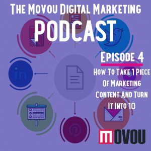 Movou Digital Marketing Podcast Episode 4- Creating 10 Pieces of Marketing Content From 1 Original Piece